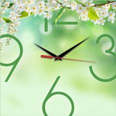 Квадратные настенные часы Весна. Цветение