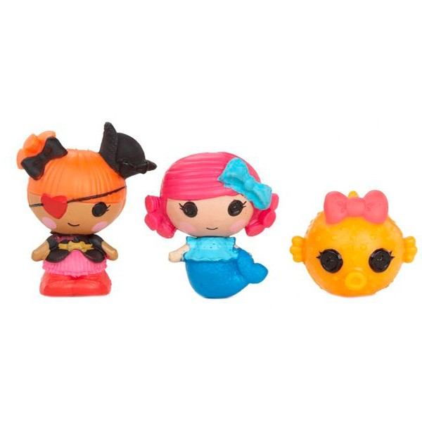 Набор кукол Лалалупси Малютки – Русалочка, Пират, Рыбка