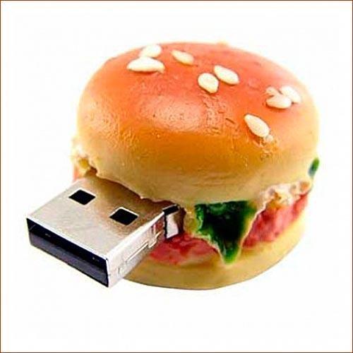 Флешка прикольная Гамбургер