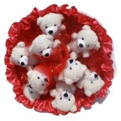 Букет из 9 игрушек Медвежата B156