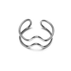 Кольцо Биение из серебра