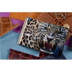Зажим для денег с принтом Оскал леопарда