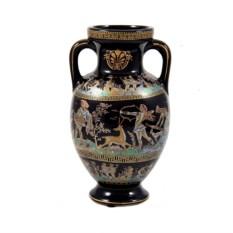 Керамическая черная декоративная ваза