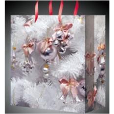 Подарочный пакет Новогодний 11*14см