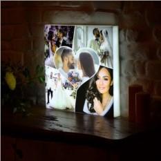 Оригинальный фото-светильник в виде коллажа по фото