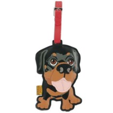 Кожаный ярлык на сумку Rottweiler