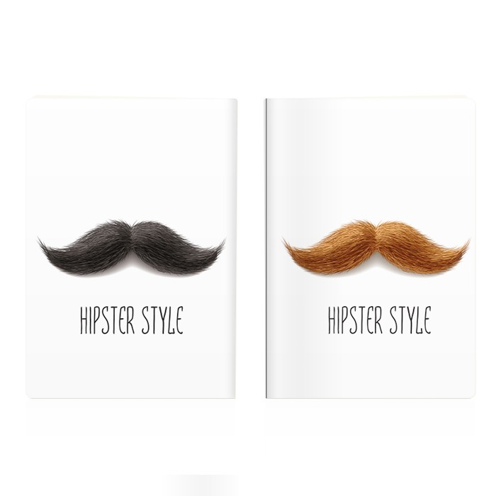 Обложка для паспорта Hipster mustache