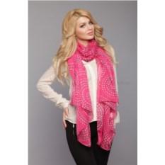 Ярко-розовый женский палантин Laura Milano