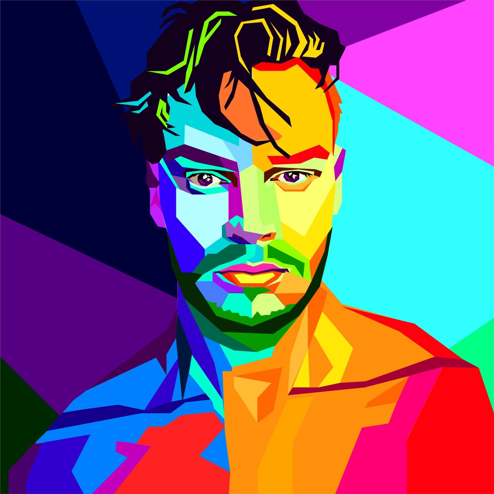 Портрет WPAP - Wedha Pop Art