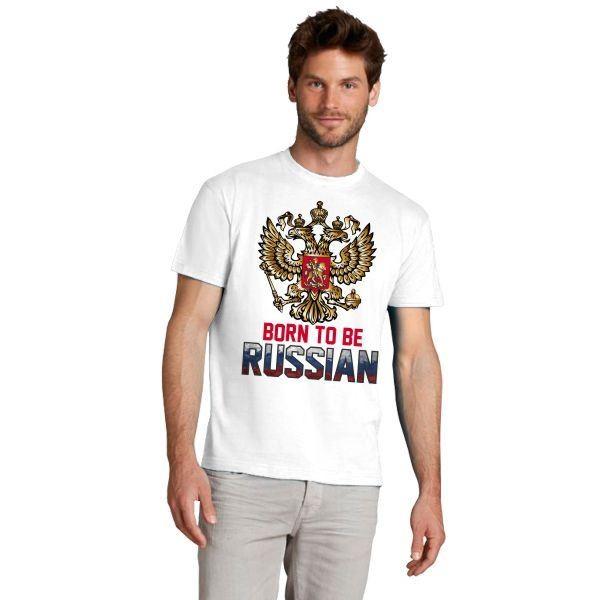 Мужская футболка Born to Russia