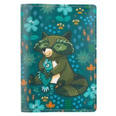 Обложка для паспорта Raccoon and Fish