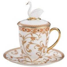 Чайная пара Swan с терракотовым орнаментом
