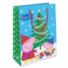 Большой подарочный пакет «Пеппа и елка»