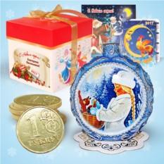 Набор с новогодней свечой «Снегурочка»