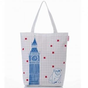 Легкая шоппинг-сумка Английский бульдог