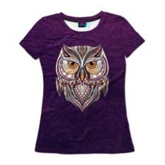 Женская 3D-футболка Совушка