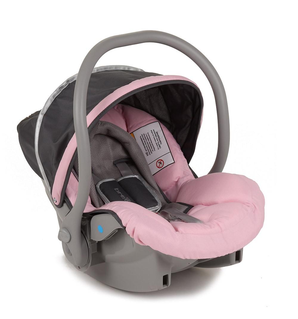 Автокресло Brevi Smart Silverline, цвет: розовый/серый