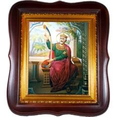 Давид Святой царь и пророк, псалмопевец. Икона на холсте.