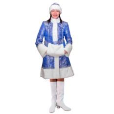 Синий новогодний костюм Снегурочка