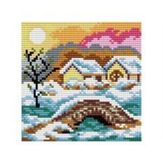 Алмазная вышивка «Зимний день»
