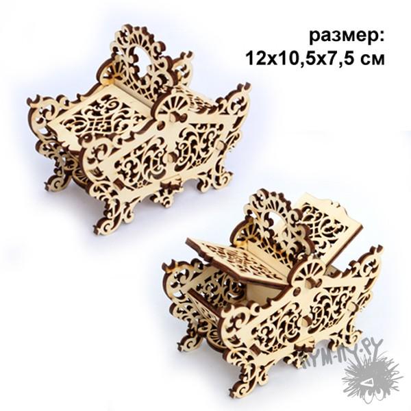 Деревянная резная шкатулка Корзинка