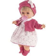 Кукла Кристиана в малиновом плачущая (30 см) Juan Antonio