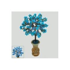 Дерево жизни из бирюзы в вазочке из оникса