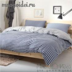 Комплект трикотажного постельного белья Синий туман