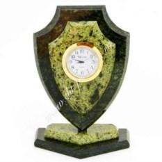 Часы из змеевика Большой щит