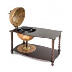 Глобус-бар напольный с журнальным столиком и картой мира