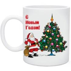 Кружка Дед мороз с елкой