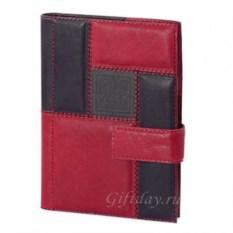 Черно-красный кожаный ежедневник