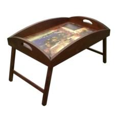 Столик для завтрака с высоким бортиком Райский уголок