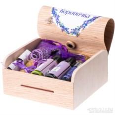 Лавандовая коробочка с натуральной косметикой