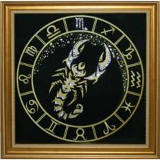 Картина Скорпион Золото (с кристаллами Сваровски)
