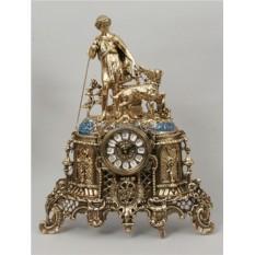Часы из бронзы Пастух, золотые