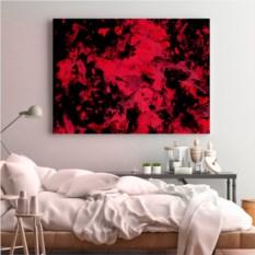 Набор для создания абстрактной живописи Love as Art Black edition – red