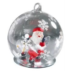 Новогодний стеклянный шар с Дедом Морозом