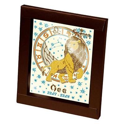 Шоколадная открытка Знаки зодиака - Лев