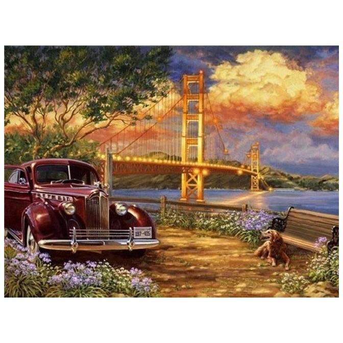Картина-раскраска на холсте Американо