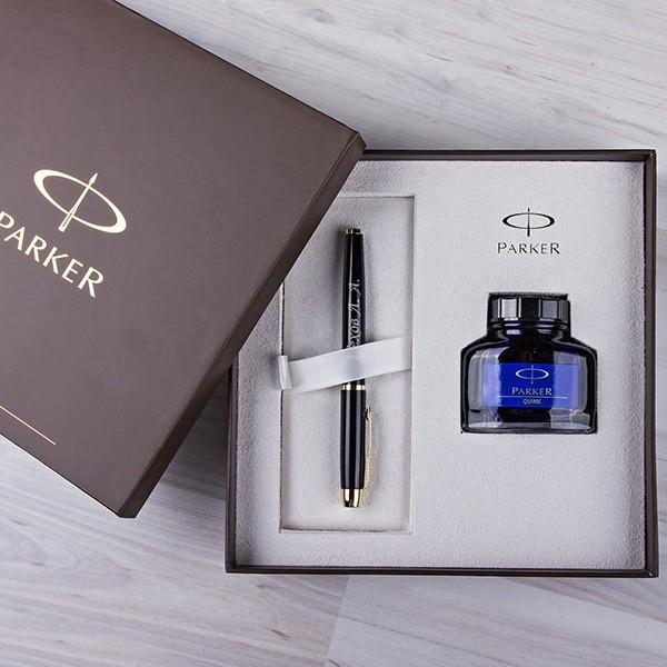 Набор Parker Перьевая ручка с гравировкой и чернильница