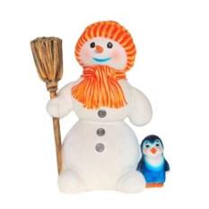 Декоративная садовая фигурка Большой снеговик