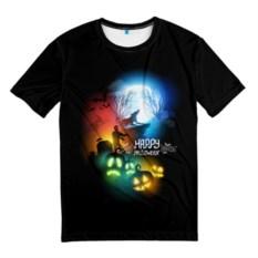 Мужская черная футболка Halloween
