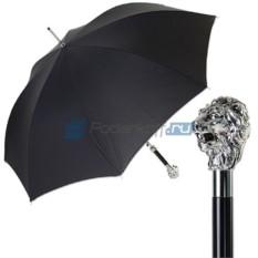 Мужской зонт-трость Pasotti Leone Silver Stripes Black
