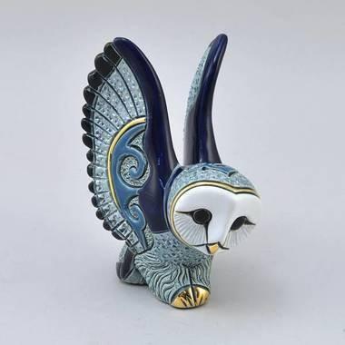 Керамическая статуэтка с позолотой Сова