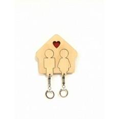 Настенная ключница для двоих Love