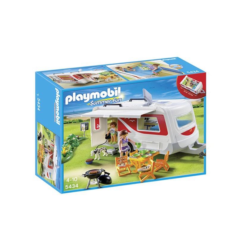 Игровой набор Playmobil Семейный автоприцеп