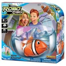 Набор РобоРыбка Клоун (желтая) с аквариумом Robofish