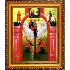Икона Божьей Матери на холсте Ключ Разумения