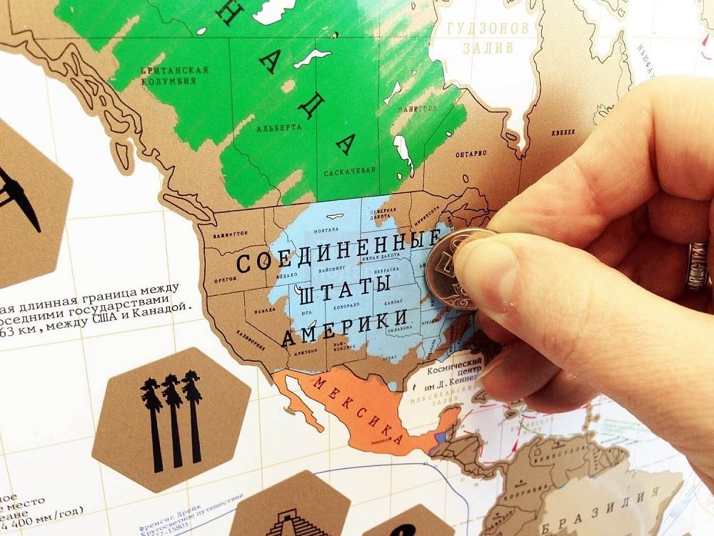 карта мира в подарок